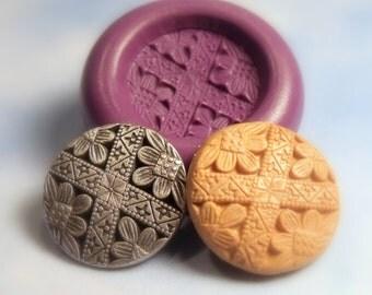 Floral Button-Flexible silicone mold