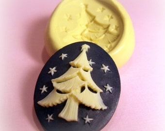 Cameo Christmas tree flexible silicone mold / mould