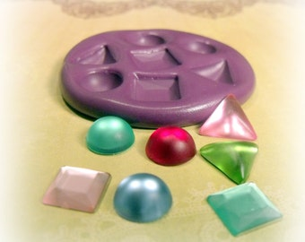 Kawaii mixed Gems resin flexible silicone mold /mould