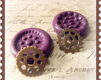Steampunk watch gear set flexible silicone mold / mould