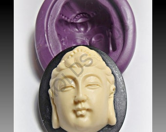 Buddha Cameo flexible silicone mold / mould 40 x 30