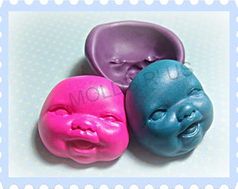 Cute Baby Face Flexible Silicone Mold / mould