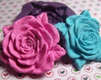 kawaii large rose mold- flexible silicone push mold / craft/ dessert/ mini food / soap mold/ resin/jewelry and more.