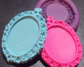 Victorian frame Flexible silicone mold / mould