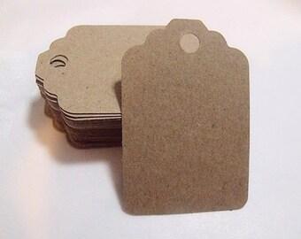 Luggage Tags Kraft Paper  (Qty 100)