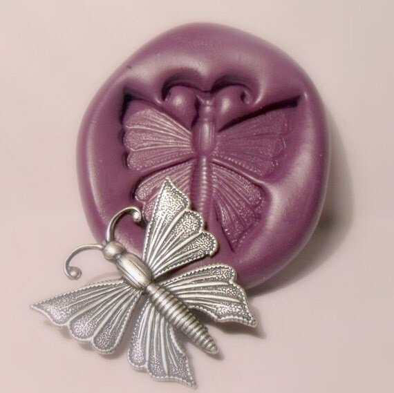 Butterfly  mold- flexible silicone push mold / craft/ dessert/ mini food / soap mold/ resin/jewelry and more..