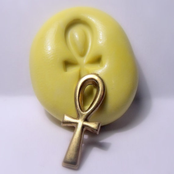egypt ankh egyptian mold - flexible silicone push mold / craft/ dessert/ mini food / soap mold/ resin/jewelry and more.