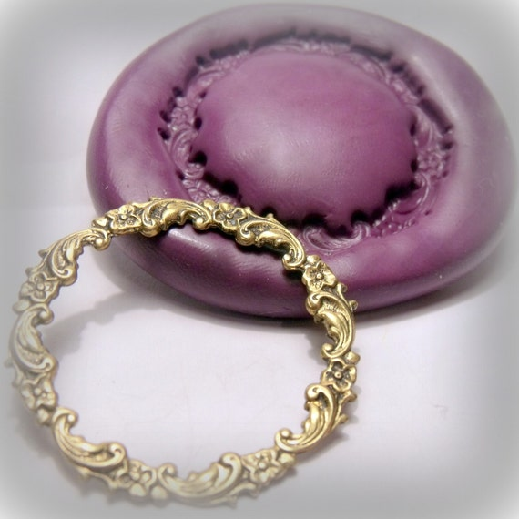 large floral ring- flexible silicone push mold