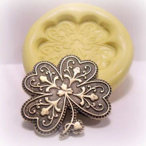 LACEY SHAMROCK silicone push mold / craft/ dessert/ mini food / soap mold/ resin/jewelry and more....
