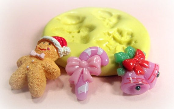 Christmas theme lot flexible silicone mold / mould