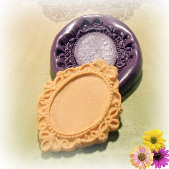 Large Victorian frame / setting 34 x 24 flexible silicone mold / mould