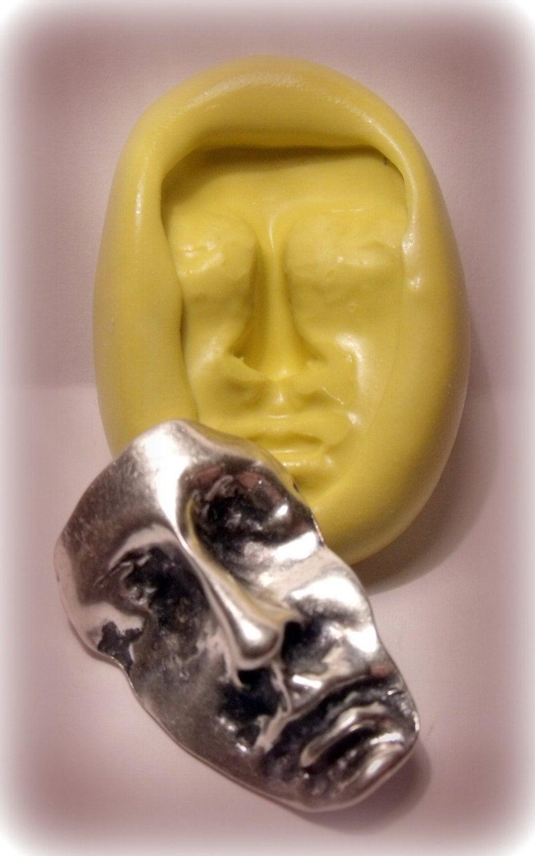 Art Doll Face Mold Flexible Silicone Push Mold Craft