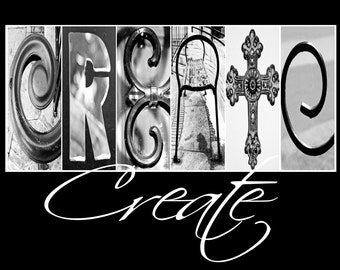 Alphabet Photography - Create with whimsical text ( Various Sizes)