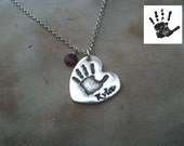 Custom Handprint Necklace - Made From Your Print