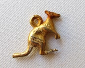 Vintage Antique Gold tone Kangaroo charm