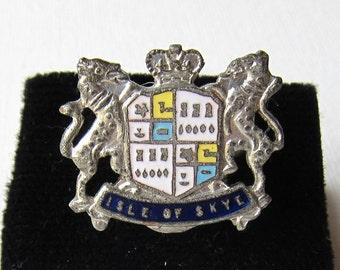 Vintage goth punk British medieval Isle of Skye heraldry ring
