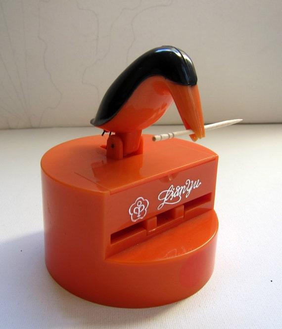 Vintage retro kitsch bird toothpick holder by evaelena on etsy - Bird toothpick holder ...