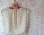 Vintage lace Paris blouse top size small