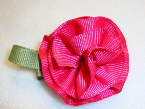 Hot Pink Carnation Hair Clip