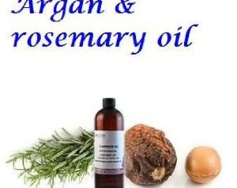 Organic Pure 100 % Argan Oil with Rosemary Essential Oil - Excellent Hair Treatment - 1.7oz (50ml)