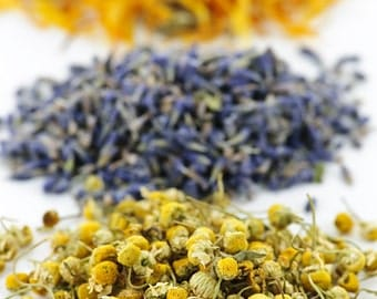 Herbal Bath tub Tea, 3 bags,  Blend with helichrysum, Lavender, Chamomile