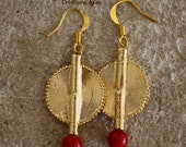 Aflé Bijoux African Earrings: Red Coral Earrings