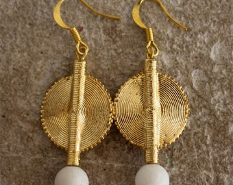 Aflé Bijoux African Earrings: White Coral Earrings