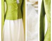 Super soft bridal jacket for green wedding