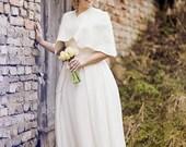 Romantic Bridal cape / capelet / shoulder Wrap / Wedding shrug - Natural white