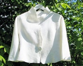 Natural white wedding bolero / Retro weddings / hand made / nuno felted / softest wool