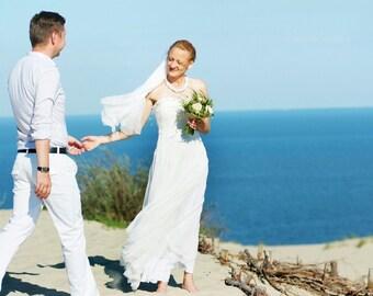 Beach Wedding dress /  Nuno Felted / Silk and Softest Wool