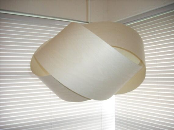GRANNY KNOT Bleached White Ash wood veneer pendant lamp