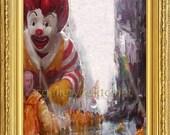 Mc Donald Waits in the Rain Limited digital prints