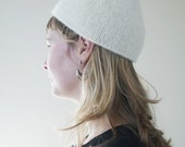 Hand Felted Wool Pixie Hat in White