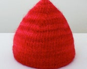 Red Baby Kisses Soft Wet Felted Wool Hat