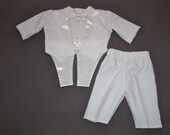 Infant Tuxedo in White size 0 to 3 months