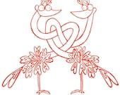 Lovebirds Blank Card