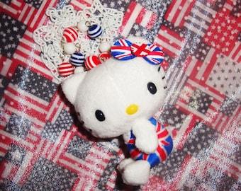 British Hello Kitty Plush Beaded Necklace