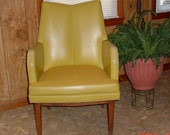 Vintage Mad Men Chair Harvest Gold