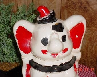 Vintage 1940s Walt Disney Dumbo Cookie Jar by Leeds