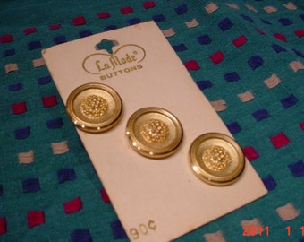 Three LaMode Buttons GOLD Original card
