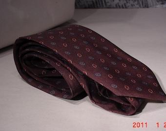 Vintage 80's Italian SILK Mens Tie Professional Attire Dad Necktie
