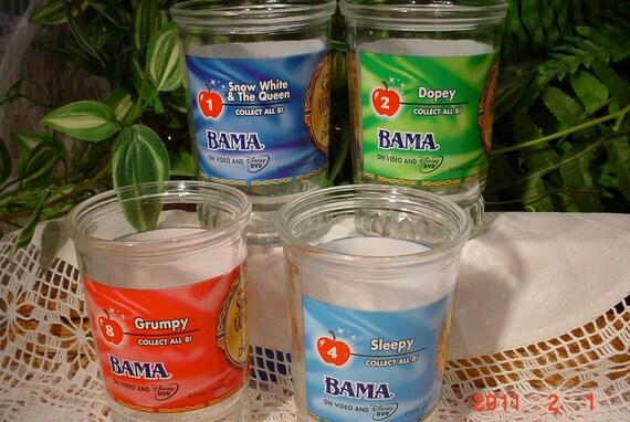 Bama --JELLY JARS--Snow White N Seven Dwarfs