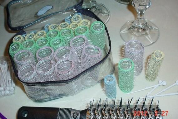 Vintage Ladies Goodys Brush Hair Rollers Complete Set Of 36
