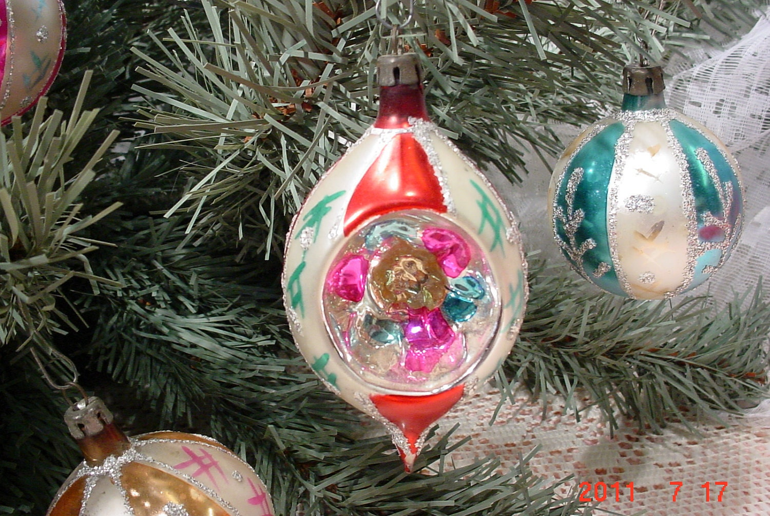 Vintage 1960s Indented Christmas Ornament By