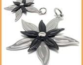 2-Tone Flower Stainless Steel Pendant