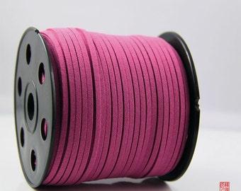 5M Fuschia Micro Fiber Suede Leather Cord