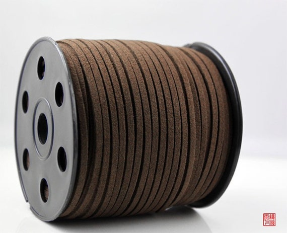 5M Dark Brown Micro Fiber Suede Leather Cord