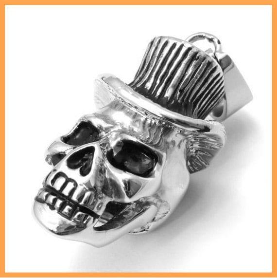 Mr. Skull Stainless Steel Pendant