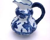 Blue Porcelain Pitcher- Oriental Design